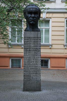 Popiersie Leon Starkiewicz III LO Łódź Sienkiewicza 46