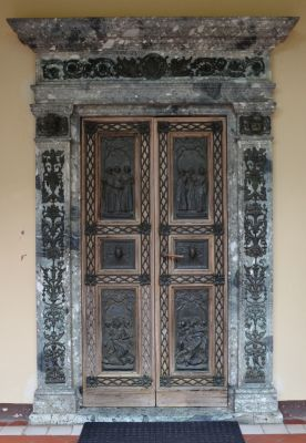 Zesp. pałacowy w Słomowie - kościół - drzwi