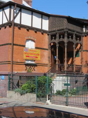 Gliwice, kościół ewangelicko-metodystyczny, wejście