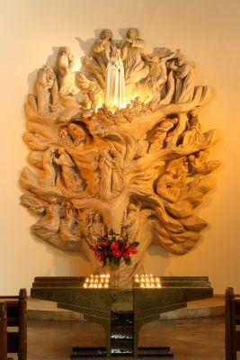 Katowice - Katedra - Drzewo fatimskie 01