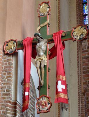 Szczecin katedra prezbiterium krucyfiks