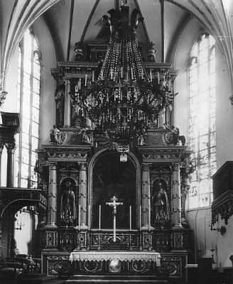 High altar of the Warsaw Cathedral
