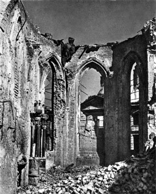 Ruins of St John Cathedral Warsaw 1945