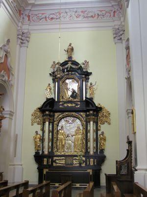2008 08230067 - Leszno - kościół parafialny pw. św. Mikołaja - szczegóły wnętrza