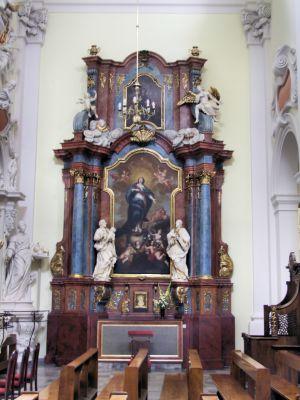 2008 08230068 - Leszno - kościół parafialny pw. św. Mikołaja - szczegóły wnętrza
