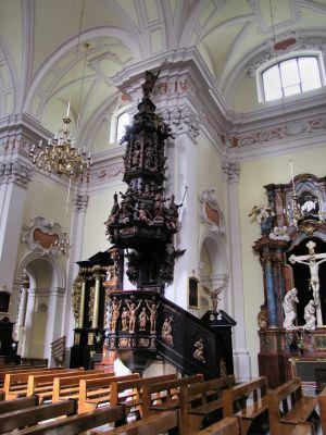2008 08230075 - Leszno - kościół parafialny pw. św. Mikołaja - szczegóły wnętrza