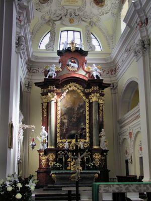 2008 08230071 - Leszno - kościół parafialny pw. św. Mikołaja - szczegóły wnętrza