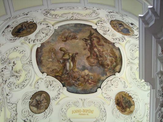 2008 08230091 - Leszno - kościół parafialny pw. św. Mikołaja - szczegóły wnętrza