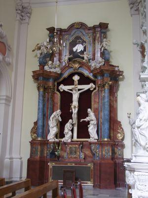 2008 08230092 - Leszno - kościół parafialny pw. św. Mikołaja - szczegóły wnętrza