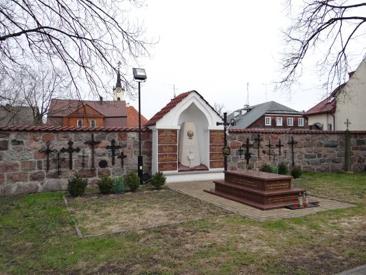 Cemetery in the courtyard of Basilica of the Nativity of St. Mary and St. Nicholas in Bielsk - 01