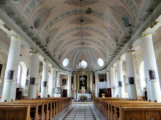 Interior of Basilica of the Nativity of St Mary and St Nicholas in Bielsk Podlaski - 01