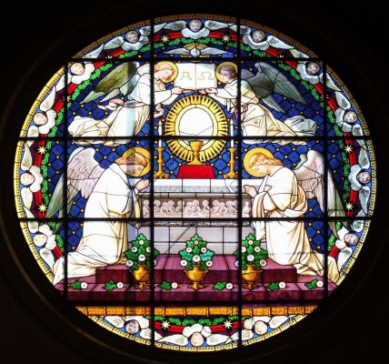 Stained glass in Nysa cathedral
