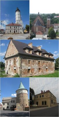 Collage of views of Biecz