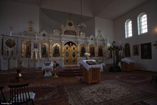 Cerkiew w Stanisławowie wnętrze