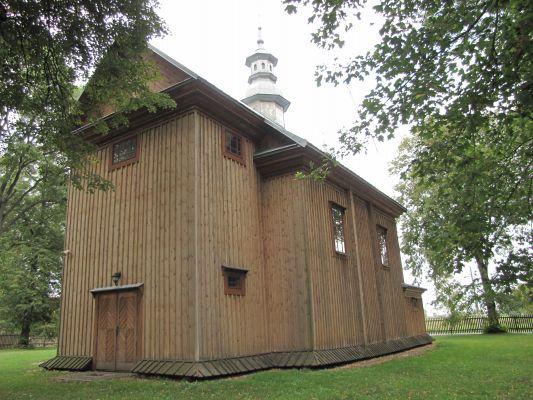A 111 Cerkiew unicka, ob. kościół rzym.-kat. fil. p.w. Zmartwychwstania Pańskiego, drewn., 1728 i Dzwonnica, przy cerkwi unickiej 7