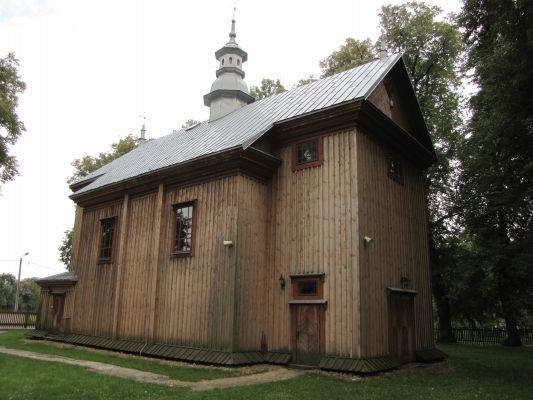 A 111 Cerkiew unicka, ob. kościół rzym.-kat. fil. p.w. Zmartwychwstania Pańskiego, drewn., 1728 i Dzwonnica, przy cerkwi unickiej 6