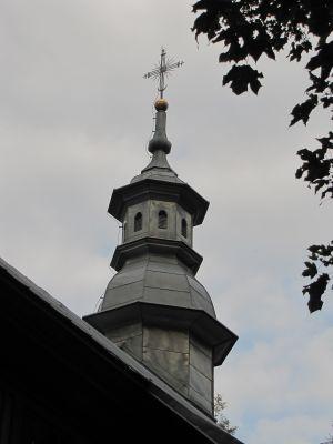 A 111 Cerkiew unicka, ob. kościół rzym.-kat. fil. p.w. Zmartwychwstania Pańskiego, drewn., 1728 i Dzwonnica, przy cerkwi unickiej 8