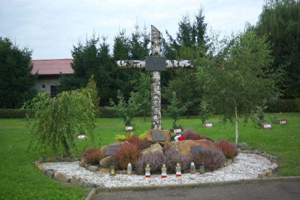 Eastern Golgota Monument cross in Sanok