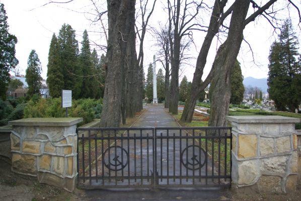 Soviet military quarter at Central Cemetery in Sanok gate