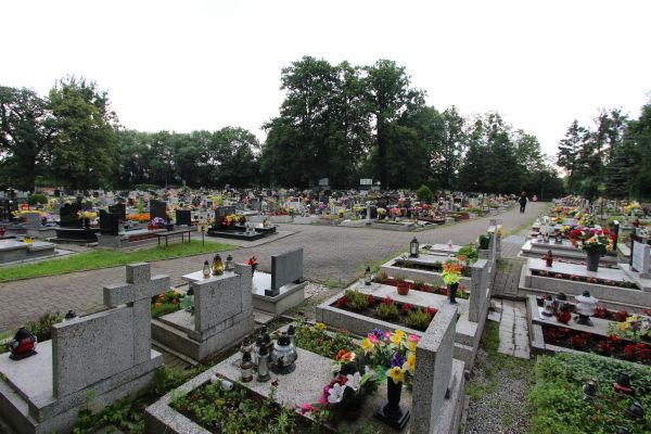 Cmentarz św. Krzyża w Pszczynie - strona od Żorskiej