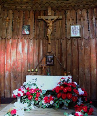 Ołtarz w Kaplicy na Jastrząbce