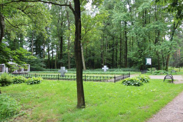 Cmentarz wojenny Trzy Dęby w Pszczynie - od wschodu
