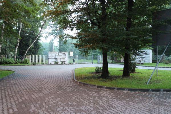Cmentarz Żołnierzy Radzieckich w Pszczynie - wejście