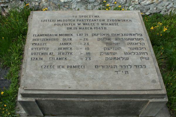 Cmentarz żydowski w Częstochowie partyzanci p