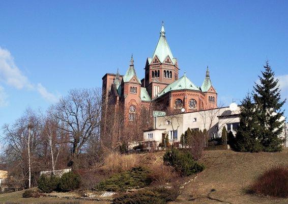 Widok na kościół w Czeladzi