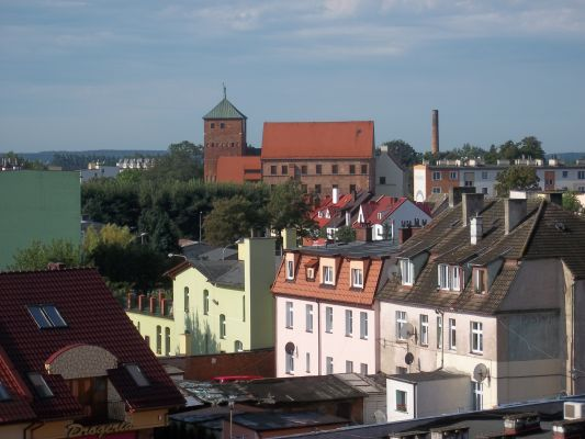 Darłowo, widok na zamek