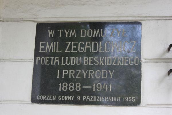 Gorzeń Górny, dwór, ob. Muzeum Emila Zegadłowicza 2
