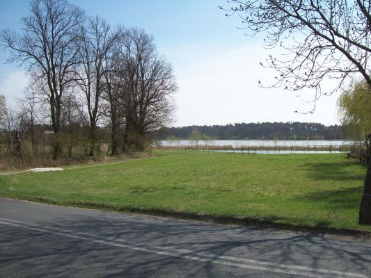 Lake Swiesz Poland - sight from centrum village April 2012