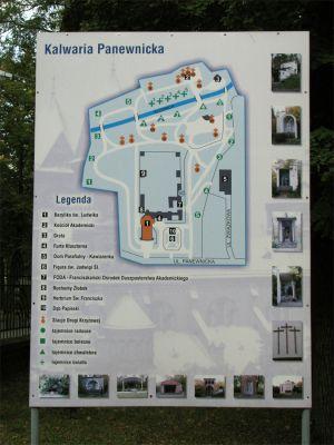 Information board at Calvary in Katowice Panewniki 2010
