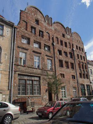 Toruń, ul. Mostowa 6, fasada budynku