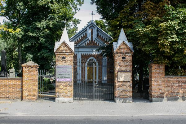 Dobrzyn cemetary fence and gate