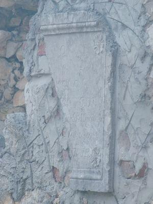 Ruina kaplicy dworskiej 1840 r Morawica 7