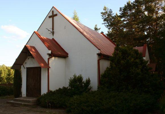 Okoniny kaplica św. Huberta z porożem 01.07.10 p