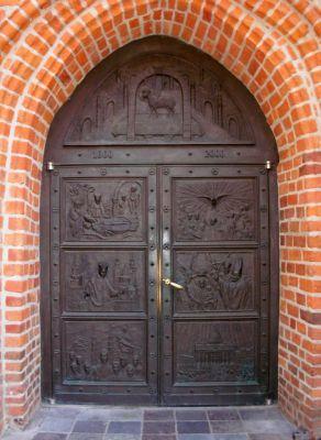 Bydgoszcz drzwi jubileuszowe fary