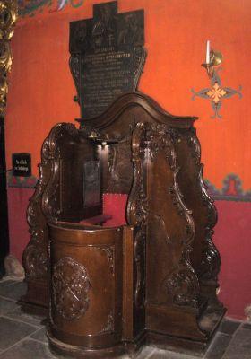 Katedra bydgoska - barokowy konfesjpnał