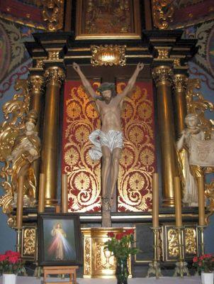 Katedra bydgoska - fragm ołtarza św Krzyża