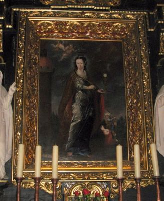 Katedra bydgoska - obraz św Barbary
