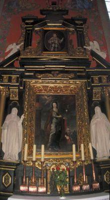 Katedra bydgoska - ołtarz św Barbary