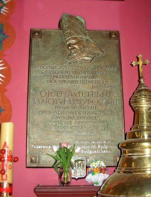 Katedra bydgoska - tablica JPII