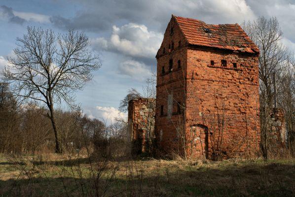 (zetem) Komorniki gmina Polkowice - Zespół dworsko-folwarczny