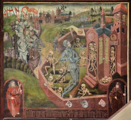 Kolobrzeg katedra obraz Rycerz na cmentarzu