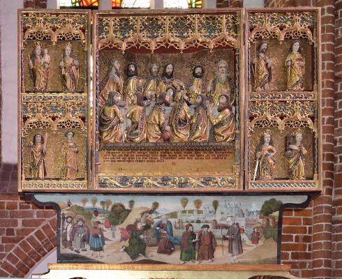 Kolobrzeg katedra oltarz Ostatnia Wieczerza