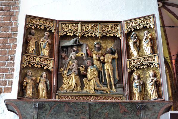 Kolobrzeg katedra oltarz Poklon trzech kroli