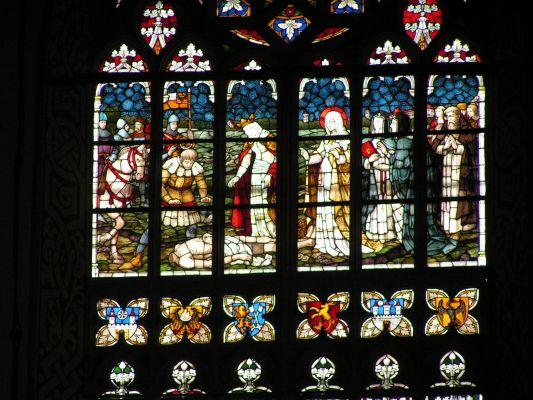 Witraż w kościele Marii Panny w Legnicy