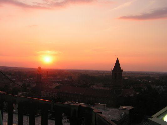 Zachód słońca Legnica