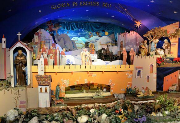 Nativity scene at Capuchin Church of the Transfiguration in Warsaw